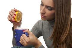 Té y limón Imagen de archivo libre de regalías