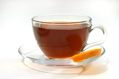 Té y limón calientes Imagenes de archivo