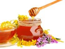 Té y miel Foto de archivo libre de regalías