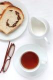Té y pan Fotografía de archivo libre de regalías