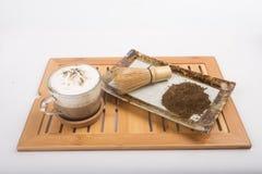 Té y polvo calientes del té Foto de archivo