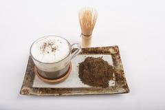Té y polvo calientes del té Imagen de archivo libre de regalías