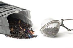 Té y tamiz del té Imagenes de archivo