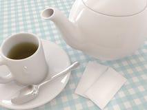 Té y tetera stock de ilustración