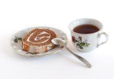 Té y torta foto de archivo