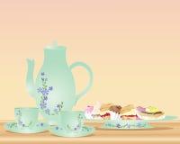 Té y tortas de tarde Fotografía de archivo