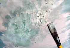 Técnica de la pintura al óleo imágenes de archivo libres de regalías