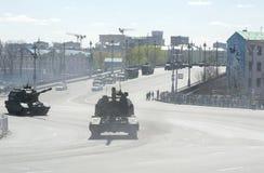 Técnica en el desfile militar Foto de archivo libre de regalías