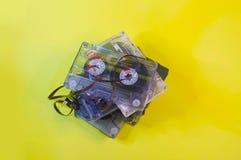 Técnicas de casetes audios de ayer foto de archivo libre de regalías