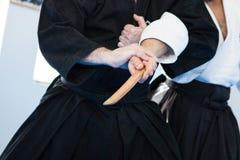 Técnicas del jiu-jitsu Foto de archivo libre de regalías