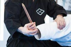 Técnicas del jiu-jitsu Imagen de archivo libre de regalías