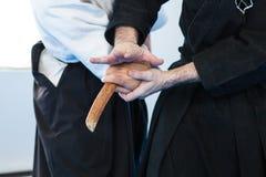 Técnicas del jiu-jitsu Fotografía de archivo libre de regalías