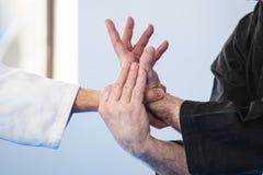 Técnicas do jiu-jitsu Imagens de Stock
