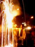 Técnicas dos fogos-de-artifício Fotos de Stock Royalty Free