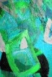 Técnicas mezcladas, pintura abstracta imagenes de archivo