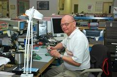 Técnico de la electrónica Foto de archivo