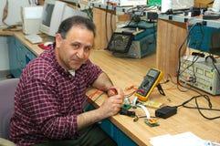 Técnico de la electrónica Imagen de archivo