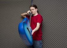 Técnico de la guitarra Fotografía de archivo libre de regalías