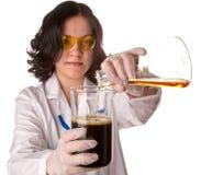 Técnico de laboratório novo Fotografia de Stock Royalty Free