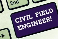 Técnico de mantenimiento civil del texto de la escritura El significado del concepto supervisa la construcción y el mantenimiento imagen de archivo