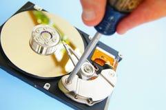 Técnico de reparación de la PC Imágenes de archivo libres de regalías