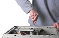 Técnico del ordenador Imagen de archivo libre de regalías