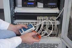 Técnico do computador Fotografia de Stock