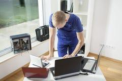 Técnico do computador Imagens de Stock