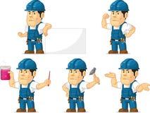 Técnico forte Mascot 4 Imagens de Stock Royalty Free
