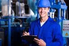 Técnico industrial masculino Imagens de Stock