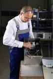 Técnico mecânico no trabalho Foto de Stock