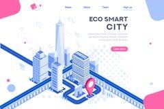 Técnicos de Smart Eco de la ciudad de la web foto de archivo