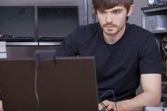Técnicos del ordenador Fotos de archivo libres de regalías