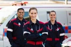 Técnicos médicos de la emergencia Fotografía de archivo