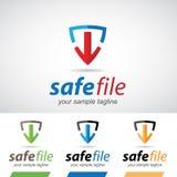 Téléchargement sûr Logo Icon de flèche et de bouclier Photographie stock libre de droits