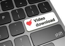 Téléchargement visuel Image stock