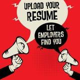 Téléchargez votre résumé - laissez les employeurs vous trouver illustration libre de droits