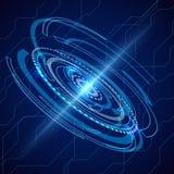 Télécom électriques abstraites Vecteur de techno de la science fiction illustration libre de droits