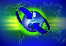 Télécommunication mondiale Photographie stock