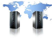 Télécommunication mondiale Photo stock