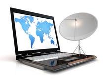 Télécommunication mondiale Photographie stock libre de droits