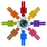 Télécommunication mondiale Image libre de droits