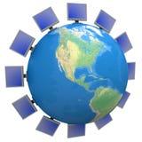 Télécommunication mondiale Photos stock
