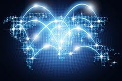 Télécommunication mondiale de Digital, concept de communication au-dessus de Photographie stock