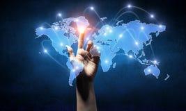 Télécommunication mondiale et mise en réseau Image stock