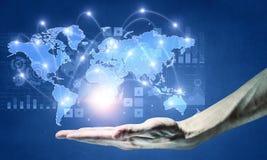 Télécommunication mondiale et mise en réseau Images stock