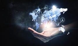 Télécommunication mondiale et mise en réseau Photos stock
