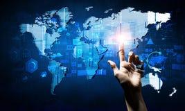 Télécommunication mondiale et mise en réseau Images libres de droits