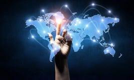 Télécommunication mondiale et mise en réseau Photographie stock