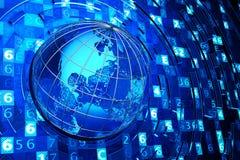 Télécommunication mondiale, Internet et concept d'informatique Images stock